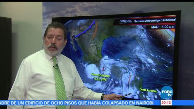 SMN, descarta afectaciones, Calvin, Servicio Meteorológico Nacional