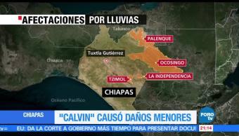 noticias, forotv, Calvin, daños menores, Chiapas, Autoridades chiapanecas
