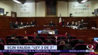 Suprema Corte de Justicia, legalidad, ley general de responsabilidades administrativas, ley 3 de 3