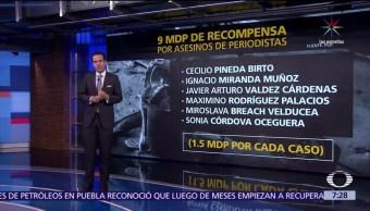 PGR, información, capturar a los homicidas, seis periodistas