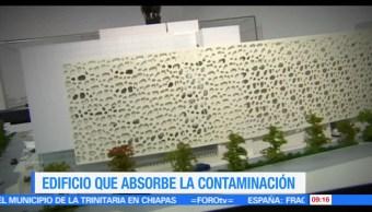 Ximena Cervantes, edificio, fachada, contaminación