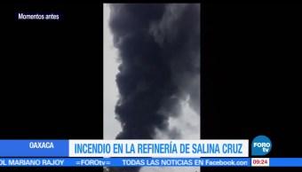 inmediaciones, refinería, Antonio Dovalí Jaime, Salina Cruz, Oaxaca, incendio