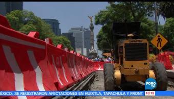 noticias, forotv, Trabajadores, paran obras, Metrobús, Reforma