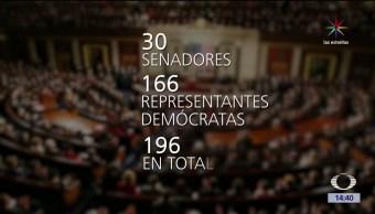 noticias, televisa, 196 legisladores, demócratas, nueva demanda, Donald Trump