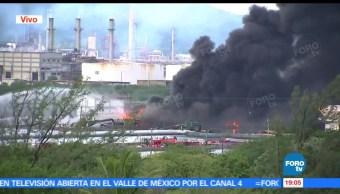 Sigue, activo, incendio, refinería Oaxaca, Pemex, Salina Cruz