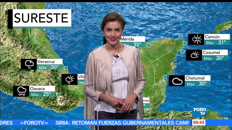 tormentas fuertes, actividad eléctrica, rachas de viento, República Mexicana
