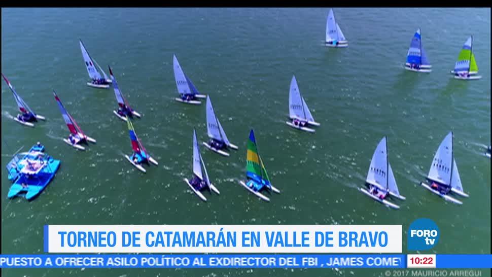 Eduardo Saint Martin, reportaje, torneo de catamarán, Valle de Bravo