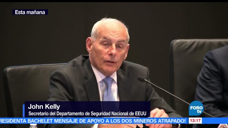 John Kelly, migrantes, no cruzar, frontera de EU