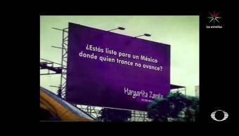 Error, espectacular, Margarita, Zavala, PAN, Elecciones 2018