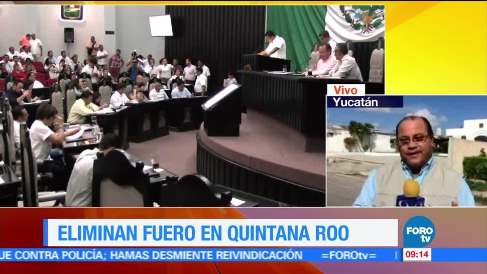 Eliminan fuero, servidores públicos, Quintana Roo