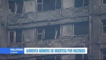 Aumenta, número de muertos, incendio, Torre Grenfell