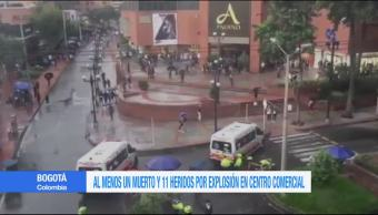 Explosión, centro comercial, Colombia, un muerto, bogotá, andino