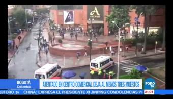 Atentado, centro comercial, Bogotá, tres, muertos, colombia