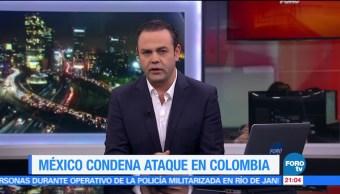 Peña Nieto, condena, ataque centro comercial, Colombia, Bogotá, terrorismo
