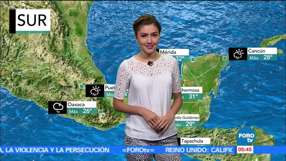 zona de inestabilidad, Golfo de México, Yucatán, tormentas, actividad eléctrica