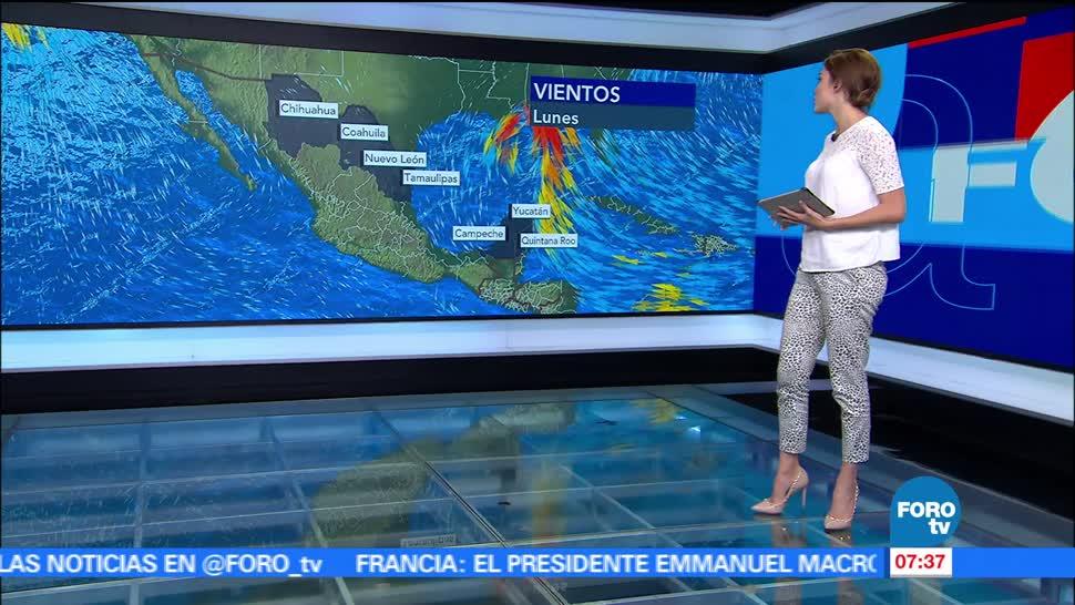 ciclón tropical, tormentas, Golfo de México, grados centígrados