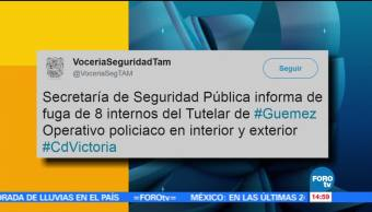 Secretaría de Seguridad Pública, Tamaulipas, tutelar Guemez, fuga