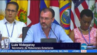 Luis Videgaray, canciller de México, periodo ordinario, Asamblea General de la OEA, Cancún