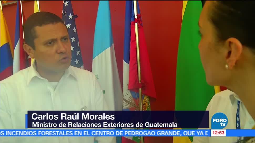 Carlos Raúl Morales, ministro de Exteriores, Guatemala, detención de Javier Duarte