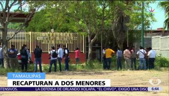 Recapturan, ocho menores, tutelar de Güemez, Tamaulipas