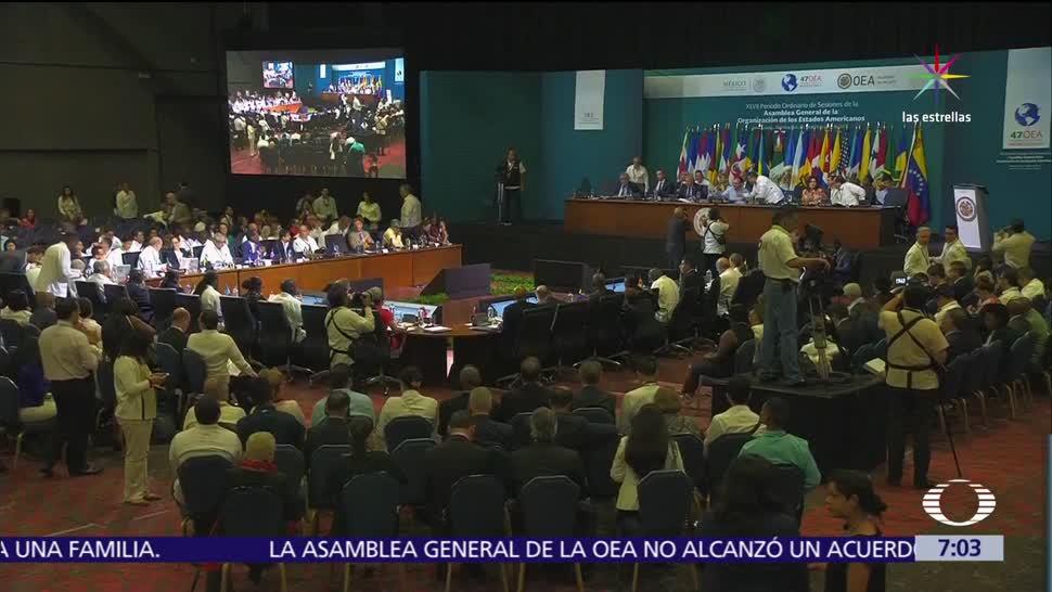 cancilleres, insultos. primera sesión plenaria, Asamblea General de la OEA