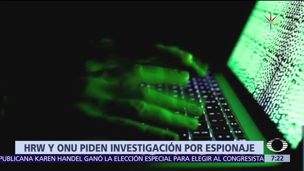 organización Human Rights Watch, gobierno de México, espionaje, periodistas, New York Times
