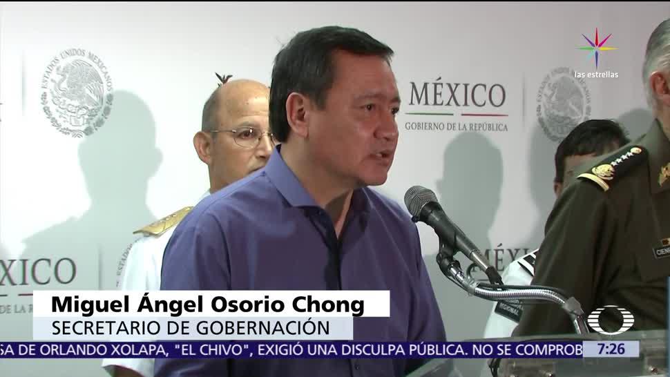 Miguel Ángel Osorio Chong, secretario de Gobernación, Gobierno federal, periodistas