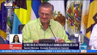noticias, forotv, Último día, actividades, 47 Asamblea General, OEA