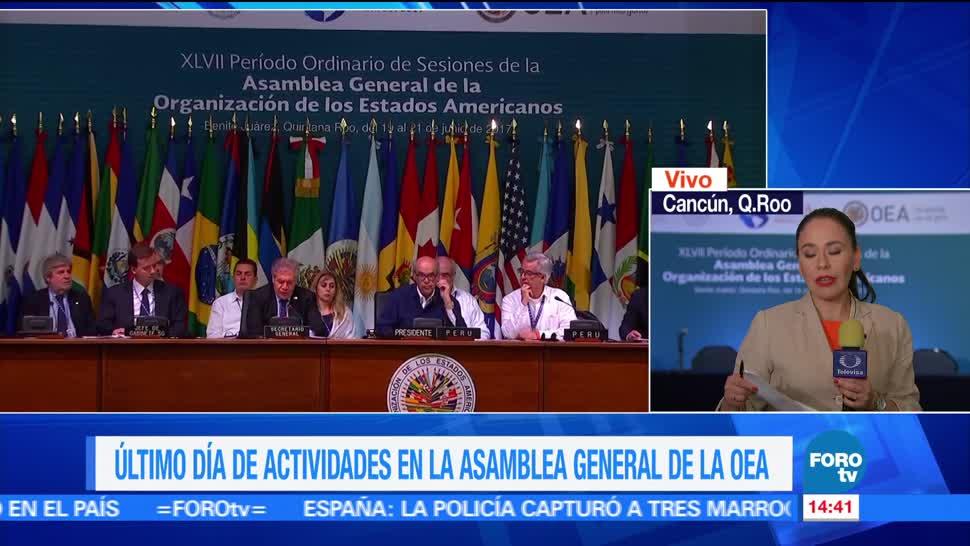 noticias, forotv, Asamblea, OEA, continúa análisis, crisis en Venezuela