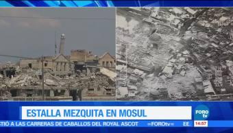 noticias, forotv, Estado Islámico, destruye, mezquita, Mosul
