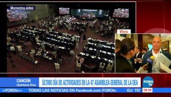 Manifestantes, venezolanos, irrumpen, Asamblea , OEA, Estados Americanos, Cancún