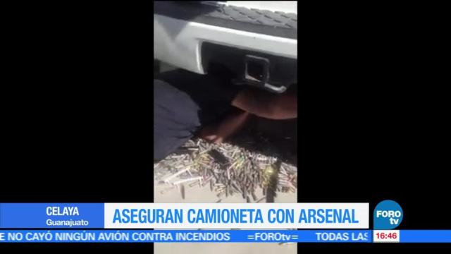 noticias, forotv, Aseguran arsenal, camioneta, Celaya, Guanajuato