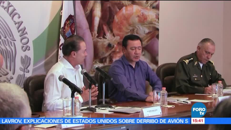 noticias, forotv, Osorio Chong, encabeza reunión, seguridad en Sinaloa