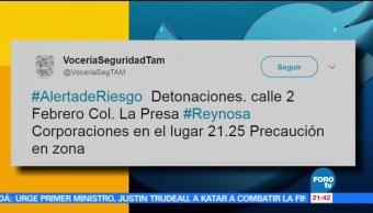 Alerta, riesgo, Reynosa Tamaulipas, vocería, detonaciones