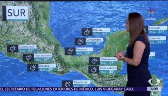 zona de inestabilidad, Pacífico mexicano, lluvias, Oaxaca, Chiapas, Tabasco