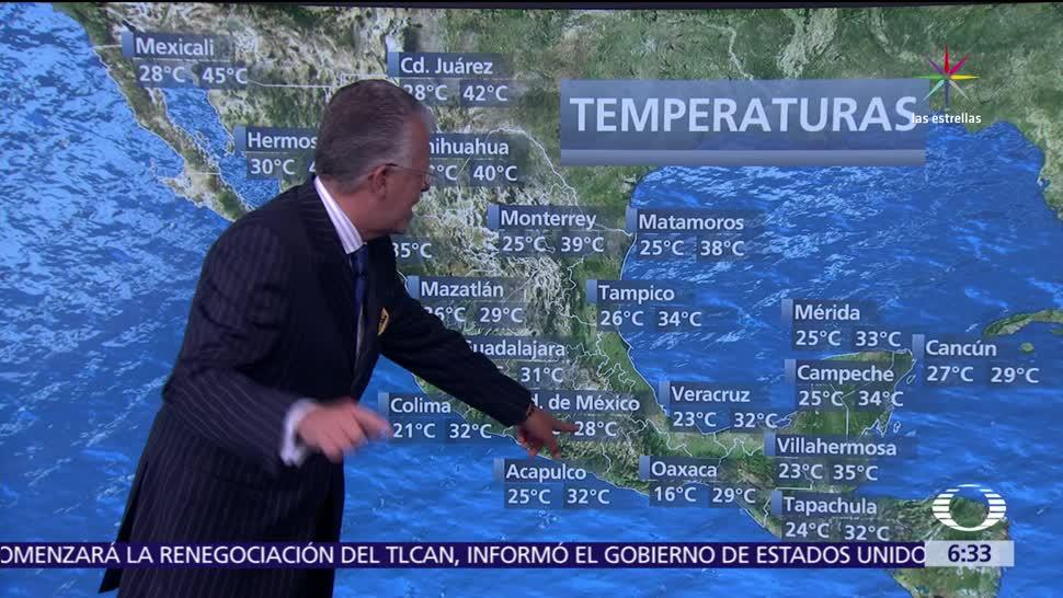 Baja presión, noroeste, occidente, México, frente frío