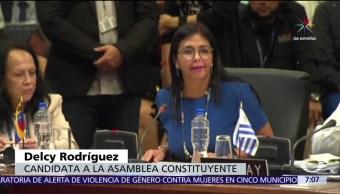 Delcy Rodríguez, Cancillería de Venezuela, Venezuela, Asamblea Constituyente