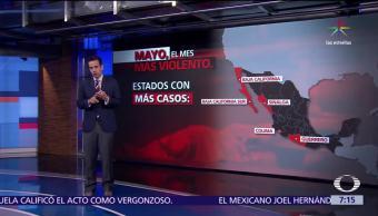 Mayo, mes más violento, últimos 20 años, SESNSP
