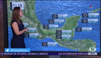 zona de inestabilidad, Golfo de Tehuantepec, tormentas puntuales, Oaxaca, Chiapas, Tabasco
