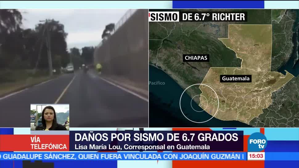 noticias, forotv, Sismo, causa daños, infraestructura, Guatemala