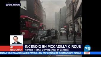 noticias, forotv,registra, incendio, Londres, Piccadilly Circus