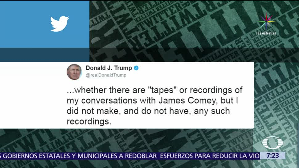 Donald Trump, no grabó, conservaciones, James Comey