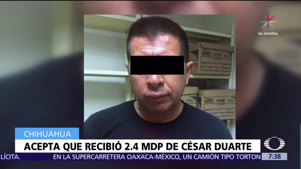 Exdiputado, admite , recibió dinero, César Duarte