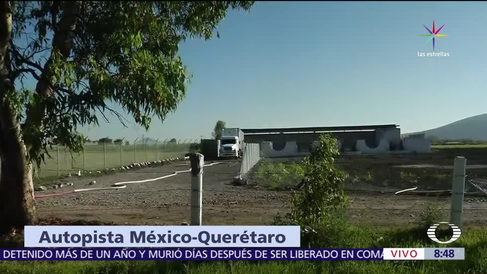Reparan, fuga de gas, autopista, México-Querétaro