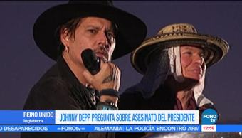 Johnny Depp, asesinar, presidente Donald Trump, Glastonbury