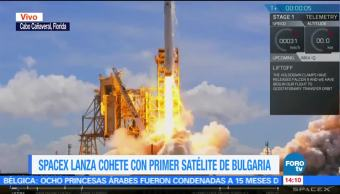 noticias, forotv, SpaceX, lanza un cohete, primer satélite, Bulgaria