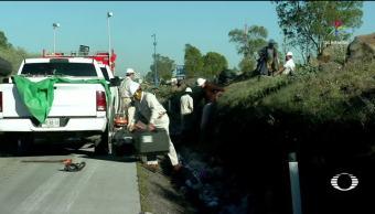 Caos, México-Querétaro, fuga, gas, toma clandestina, autopista