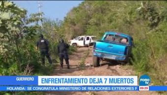 Enfrentamiento, Guerrero, 7 muertos, Heliodoro Castillo
