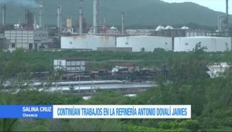 Continúan, trabajos, limpieza, refinería, Salina Cruz, Oaxaca