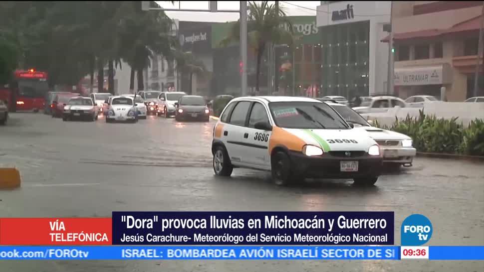 meteorólogo del SMN, Jesús Cárdenas, efectos, tormenta tropical 'Dora'